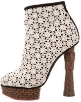 Charlotte Olympia Floral Embellished Booties