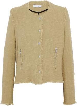IRO Frayed Cotton-tweed Jacket