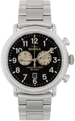 Shinola Silver and Grey The Runwell Chrono 47mm Watch