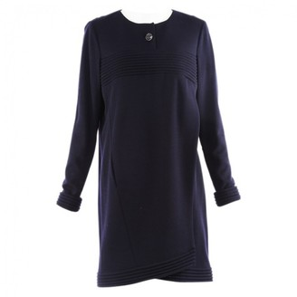 Chanel Blue Wool Dresses