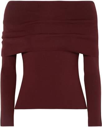 Agnona Off-the-shoulder Wool-blend Sweater