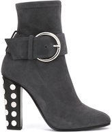 Giuseppe Zanotti Design studded heel ankle boots - women - Leather/Suede/Artificial Leather/metal - 38