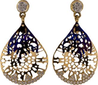 Federica Rettore Gorgonia Diamond And Titanium Earrings