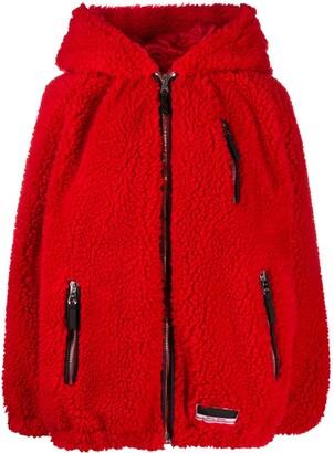 Miu Miu Hooded Oversized Jacket