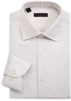 Saks Fifth Avenue COLLECTION Bird's-Eye Print Shirt