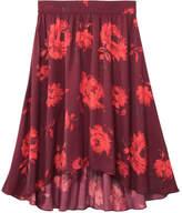 Joe Fresh Women's Floral Midi Skirt, Dark Red (Size L)