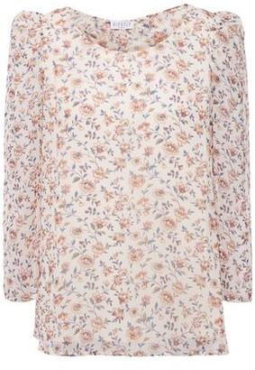 Claudie Pierlot Bow-embellished Floral-print Crepon Blouse