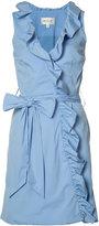 Milly ruffle trim wrap dress - women - Cotton/Polyamide/Polyester/Acetate - 4