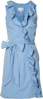 Milly ruffle trim wrap dress