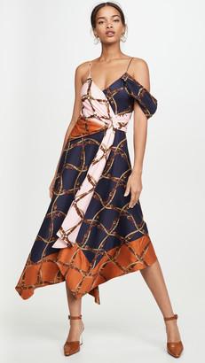 Jonathan Simkhai Saddle Print Print Asymmetric Dress