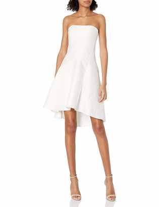 Halston Women's Strapless Jacquard Dress
