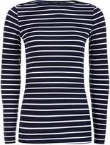 House of Fraser HotSquash Close fitting boat neck top