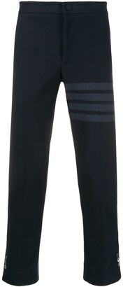 Thom Browne slim-fit tonal 4-Bar trousers