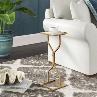 Ivy Bronx Luong End Table Color: Antique Gold