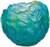 Daum Bouquet Vase, Blue/Green