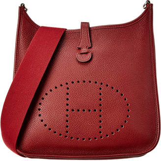 Hermes Bordeaux Togo Leather Evelyne I Gm