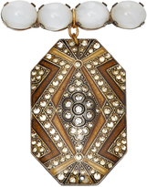 Lulu Frost M'O Exclusive Vintage Antique Moonstone Cabochon Brooch