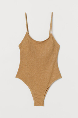 H&M Swimsuit with Padded Cups - Beige
