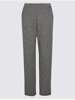 Classic Textured Straight Leg Trousers