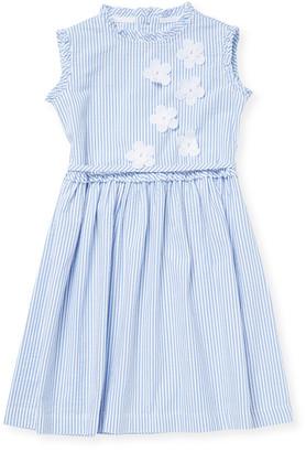 Il Gufo Pinstripe Flare Dress