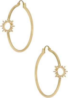 Ettika Open Starburst Hoop Earrings