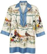 Gucci Mickey Mouse silk pyjama top.