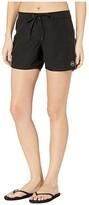 O'Neill 5 Saltwater Solids Boardshorts (Black) Women's Swimwear