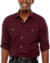 Claiborne Slim-Fit Roll-Sleeve Shirt