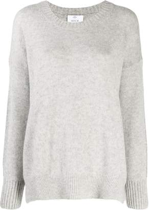 Allude curved hem jumper