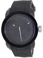 Diesel Men's Double Down DZ1437 Black Rubber Analog Quartz Fashion Watch