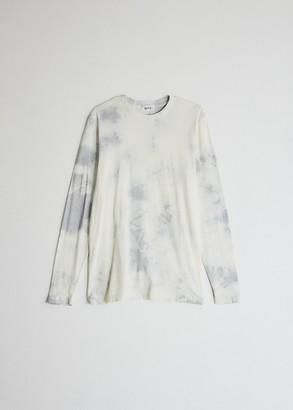 Need Women's Long Sleeve Dye T-Shirt in Dove Grey Tie Dye, Size Extra Small | 100% Cotton
