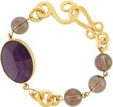 Stephanie Kantis Hammered Link & Faceted Oval Bracelet