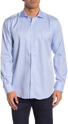 Bugatchi Check Print Shaped Fit Woven Sport Shirt