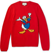 Gucci Disney Appliquéd Intarsia Wool Sweater