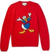 Gucci + Disney Appliquéd Intarsia Wool Sweater