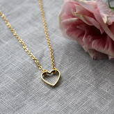 Nell Little Gold Heart Cut Out Necklace