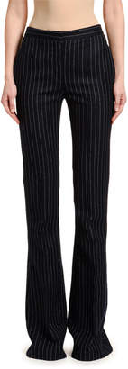Alexander McQueen Pinstriped Flannel Flare Pants