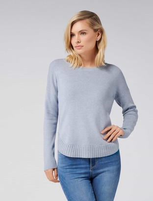 Forever New Lucy Curved Hem Jumper - Swift Sea - l