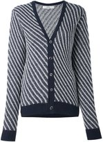 Julien David striped cardigan - women - Wool - S