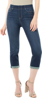 Liverpool Jeans Company Chloe Roll Cuff Capri Denim Leggings