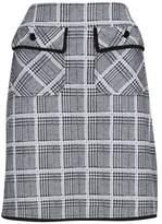 Wallis Black Checked Skirt