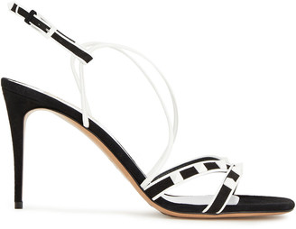 Valentino Free Rockstud Two-tone Suede Sandals