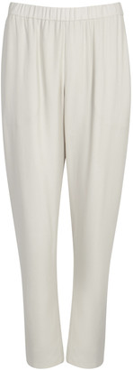 Eileen Fisher Bone Silk Trousers