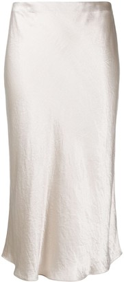 Vince Metallic-Sheen Slip Skirt