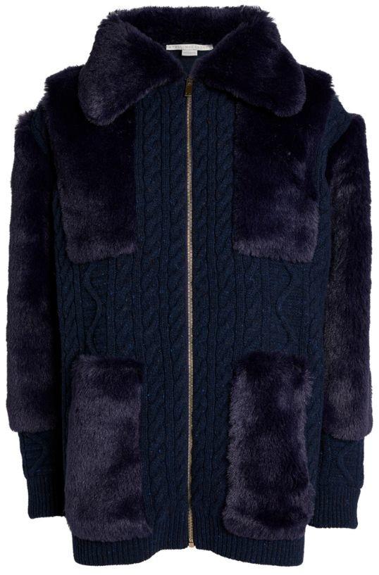 Stella McCartney Faux Fur-Detail Coat