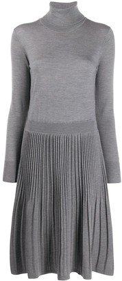 Calvin Klein Pleated Knit Dress