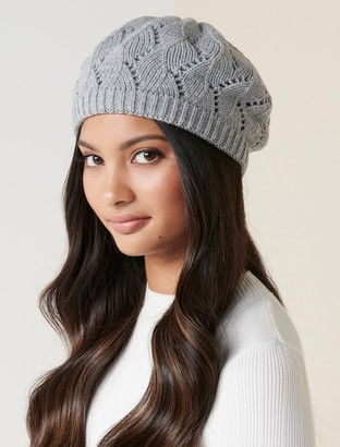 Forever New Willow Pointelle Beret - Grey - 00