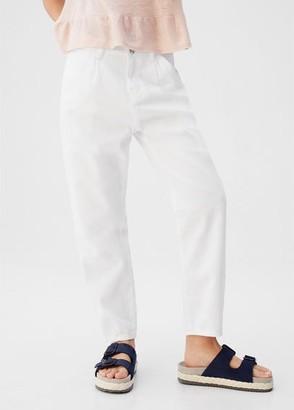 MANGO White Slouchy jeans