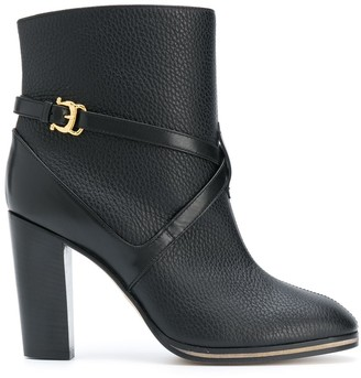Pollini Side-Buckle Boots
