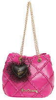 Betsey Johnson Cross Your Heart Chain Handle Shoulder Bag